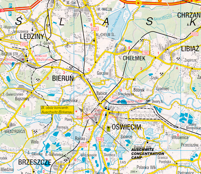 concentration camps in poland map with Auschwitz 02 on File Auschwitz Main C   plex   Oswiecim  Poland   NARA   305895 moreover Juden ausweisung polen 1938 also Section 3 furthermore Auschwitz 3872433 together with Emig33.
