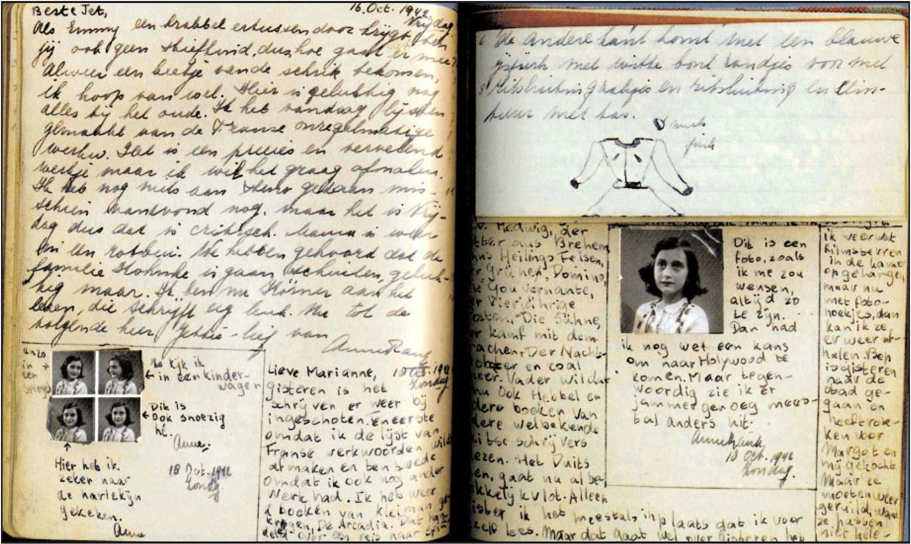 anne frank journal Researchers deciphered the writing on two pages of anne frank's diary that she  had covered over with masking paper, discovering four risque.